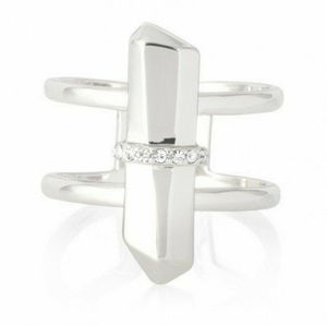S&D Rebel ring s/m silver tone
